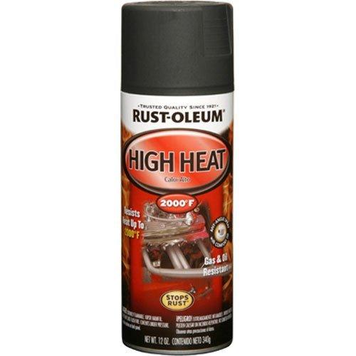 Rust-Oleum 248903 Automotive 12-Ounce High Heat 2000 Degree Spray Paint, Flat Black (Black Auto Spray Paint compare prices)