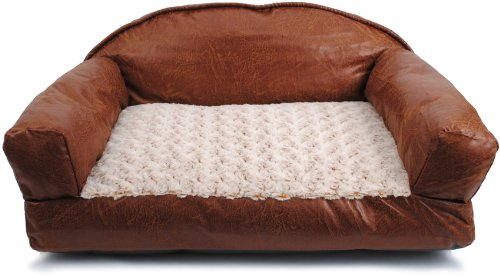Brinkmann Pet 29-Inch by 19-Inch Faux Leather Sofa Bed Machine Washable Cover