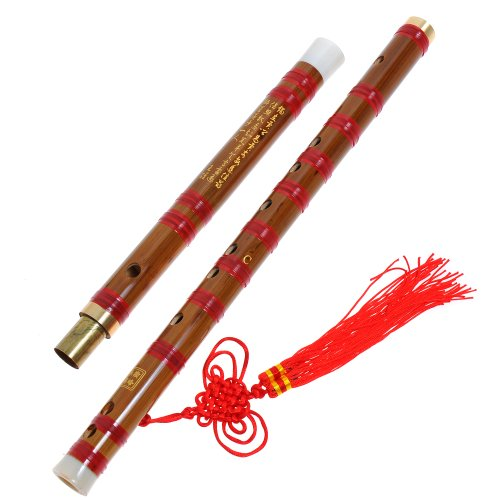 1Pkg Traditional Handmade Dizi Bamboo Flute Chinese Musical Instrument In F Key