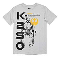 Mad Engine boys K-2SO Rogue One Youth T-Shirt (Small, Silver)