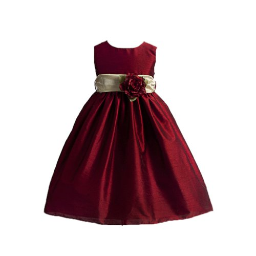 Classy Solid Red Flower Girl Dress - Size 3T front-690200