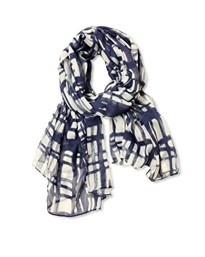 Printed Village Women's Check Me Out Scarf, Navy