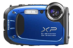 Fujifilm FinePix XP60 - Blue (16.4MP, 5x Optical Zoom, Waterproof to 20ft/6m, Shockproof to 5ft/1.5m)