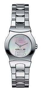 Cerruti - 4249615 - Montre Femme - Quartz Analogique - Bracelet Acier Blanc
