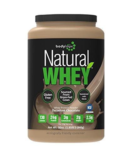 Bodylogix Natural Whey Protein Nutrition Shake, Decadent Chocolate, 1.85 Pound (All Natural Protein Powder compare prices)