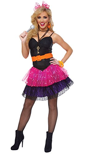 Cyndi Lauper Madonna 80s Pop Star Halloween Fancy Dress Hens Party Costume Outfit - Standard Size 6 to 10