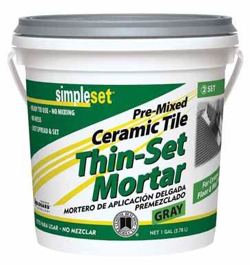 Custom Bldg Products CTTSG1-2 Gallon Gray Thin Set Mortar - Quantity 2
