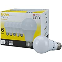 6-Pack Utilitech 60W Equivalent A19 LED Fixture Light Bulb (White)