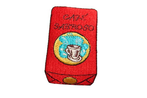 Id #7301 Coffee Grounds Bag Of Cafe Espresso Iron On Embroidered Patch Applique