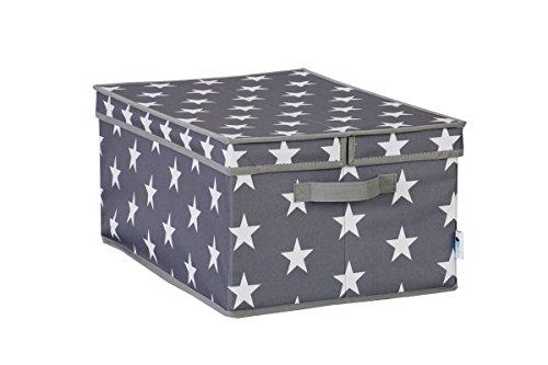 STOREIT-670988-XL-Aufbewahrungsbox-mit-Klappdeckel-Storage-Box-Kleiderschrank-aus-reifestem-Polyester-grau