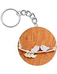 Love Birds | ShopTwiz Printed Circle Key Ring