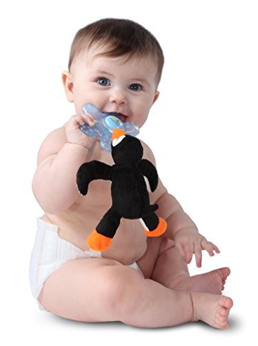 Nookums Paci-Plushies Chillies - Penguin Teether and Pacifier Holder - 1
