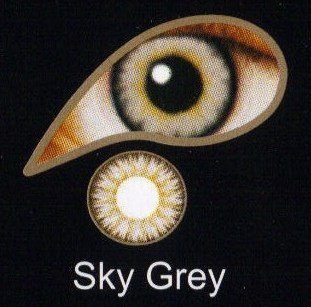 Coloured Contact Lenses with Free Solution & Case - Sky Grey (3 Months)