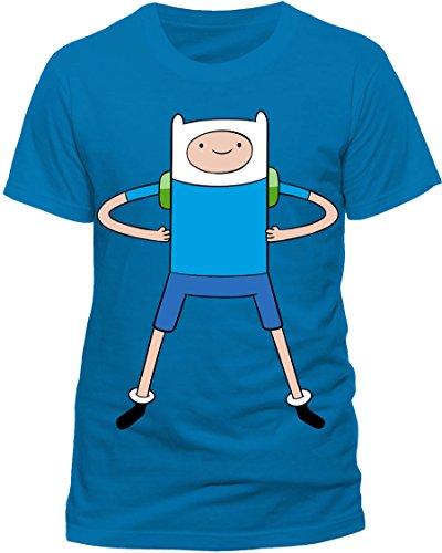 CID ADVENTURE TIME - FINN-T-shirt  Uomo    Blu X-Large