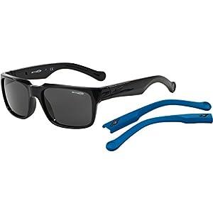Arnette D-Street Unisex Sunglasses - 41/87 Gloss Black/Fuzzy Denim/Grey
