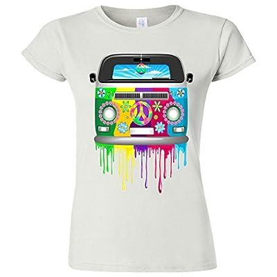 Junior Fit: Hippie Van Dripping Rainbow T-Shirt