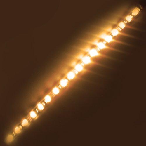Super Bright 1Ft (300Mm) Flexible Waterproof Led Strip Lights - Warm White 18Leds 5050 - Waterproof Ip-65