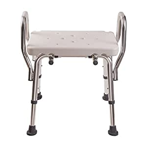dmi heavy duty bath and shower chair with arms adjustable legs and no