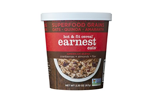 Earnest Eats Vegan & Wheat-Free Hot Cereal With Superfood Grains, Quinoa, Oats And Amaranth - American Blend - (Case Of 12 - Single Serve Cups)
