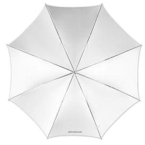 Westcott Parapluie satin 109 cm Blanc (Import Royaume Uni)