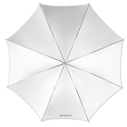Westcott 2001 43-Inch Optical White Satin Collapsible Umbrella
