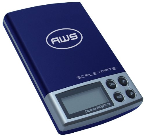 American Weigh Scale Scalemate Sm-201 Digital Pocket Scale, Blue, 200 X 0.01 G