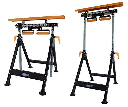 Werkbank-hhenverstellbar-Rollenbock-Klappbock-V-Rollen-klappbar-200-kg-Werktisch-4-in-1