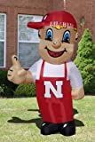 Huge 8' NCAA Nebraska Cornhuskers Lil red-colored Inflatable outside Yard Decoration