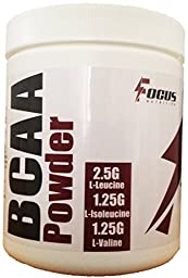 BCAA Powder, GMP and FDA Certified Facility, 2:1:1 Ratio, Unflavored, High Quality with No Fillers, 50 Servings, 250 Grams
