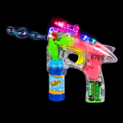 Check Out This Rhode Island Novelty LED Bubble Gun with Laser and Sound Party Accessory