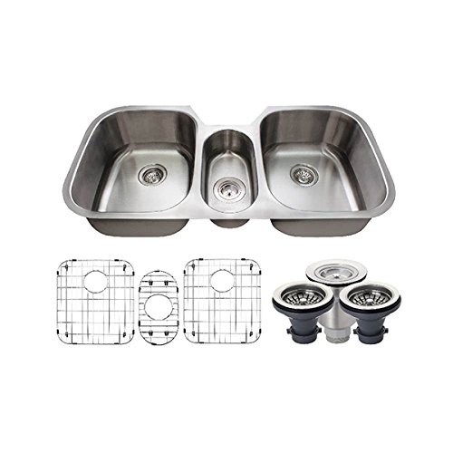 the-mr-direct-4521-16-gauge-stainless-steel-kitchen-ensemble-bundle-7-items-sink-basket-strainer-2-s