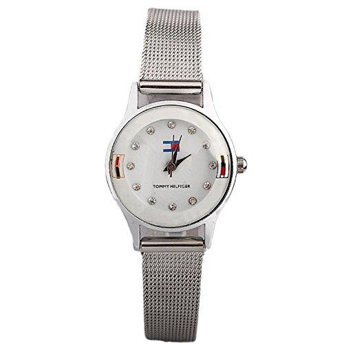 Etiger® Nisex Kezzi Quartz Watch 2014 New Fashion Digital Women Wristwatches Women Silver Watches Dress France Flag Watch (White)