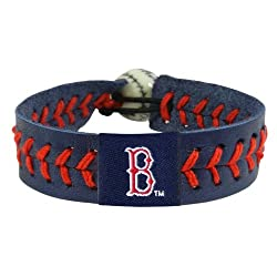 MLB Boston Red Sox Blue Team Color Baseball Bracelet