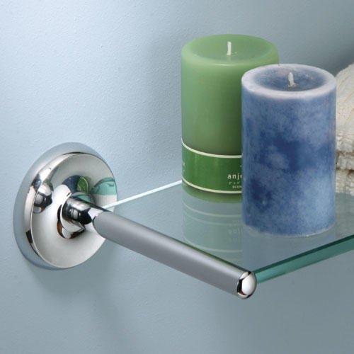 Designer Ii Tempered Glass Shelf - Chrome front-1051024