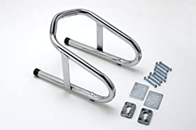 """Motorcycle Removable Wheel Chock Nest Tire Trailer Holder Chrome 5 yr Warranty 6 1/2"""" Wide"""