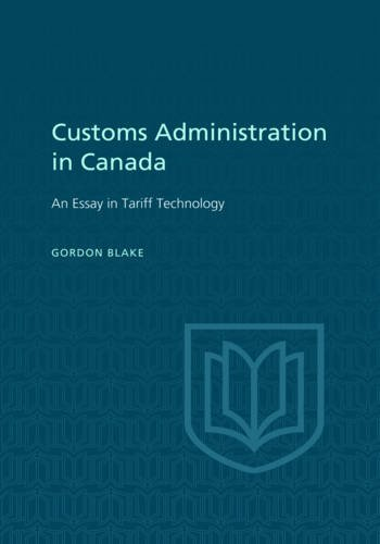 Customs Administration in Canada (Heritage) (American Government Custom compare prices)