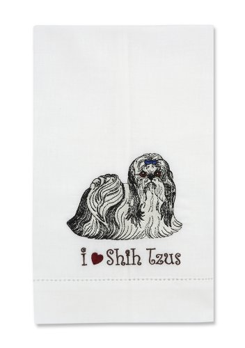 Rescue Me Now Shih Tzu Tea Towel, 11 By 7-Inch, Embroidered front-439505