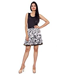ceil women's skirt (white&black)
