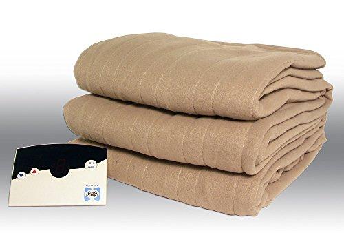 Biddeford Blankets Comfort Heated Polyester Knit Blanket (Queen, Natural)