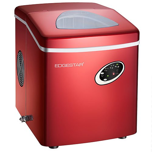 RED Ice Maker Cube Machine Compact Small Countertop Portable Kitchen ...
