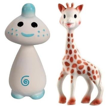 Vullie Sophie Giraffe And Chan Blue - Natural Rubber And Food Paint Details Set Of 2 front-30619
