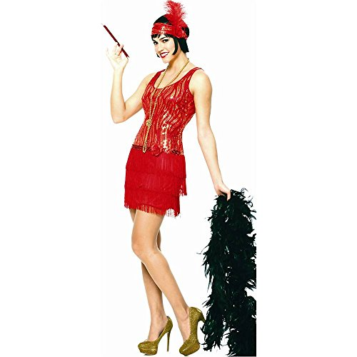 Red Broadway Flapper Adult Costume