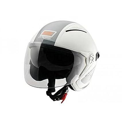 OR004054 - Casque Origine Falco Retro Brillant Blanc/Gris M