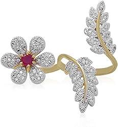 JDX Premium American Diamond Ring for Women and Girls_Adjustable
