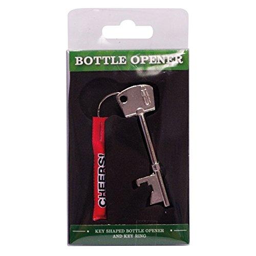 Invero® Bier / Soft Drink Flaschenöffner Schlüsselanhänger Key Shaped Metallwerkzeug-Gerät-Neuheit-Geschenk.