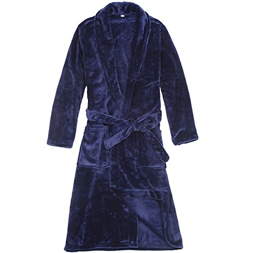 WORW Big Boys' Solid Robes Bathrobe Robes (Large)