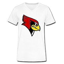 Male FIHII Homelike Illinois State Redbirds Short Sleeve V-neck T Shirts