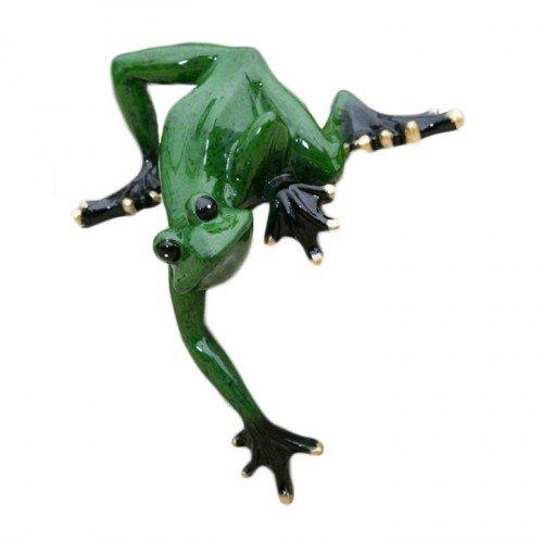 Frosch kantenkletterer gr n 13x 9 cm - Fensterbank setzen ...