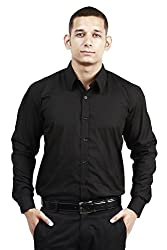 Trendster Winsome Solid Black Formal Shirt