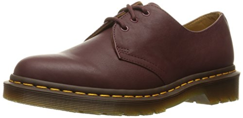 Dr.Martens Womens 1461 3 Eyelet Virginia Red Leather Shoes 38 EU